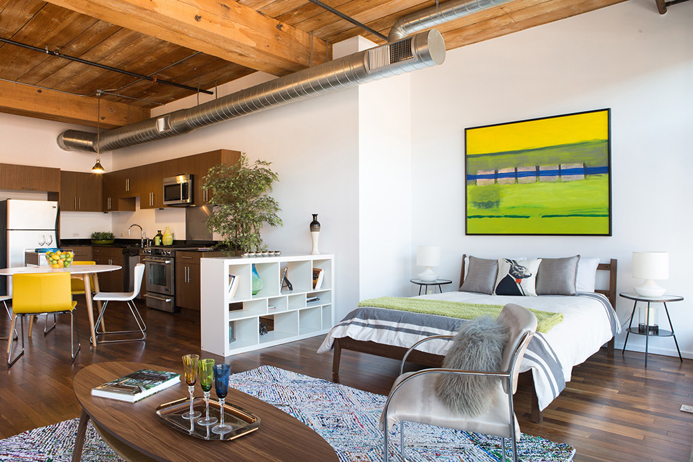 Downtown Loft staging Los Angeles