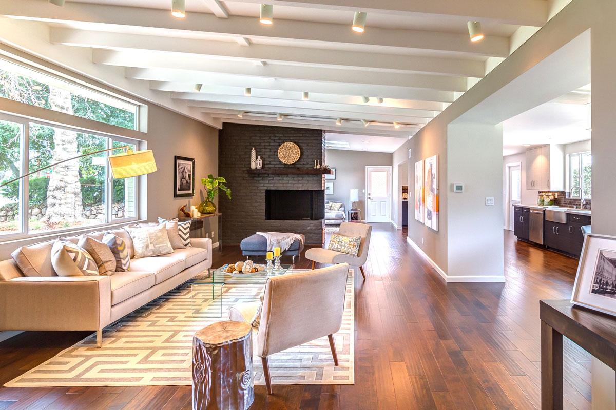 Pasadena transitional craftsman modiano design - Craftsman style house interior ...